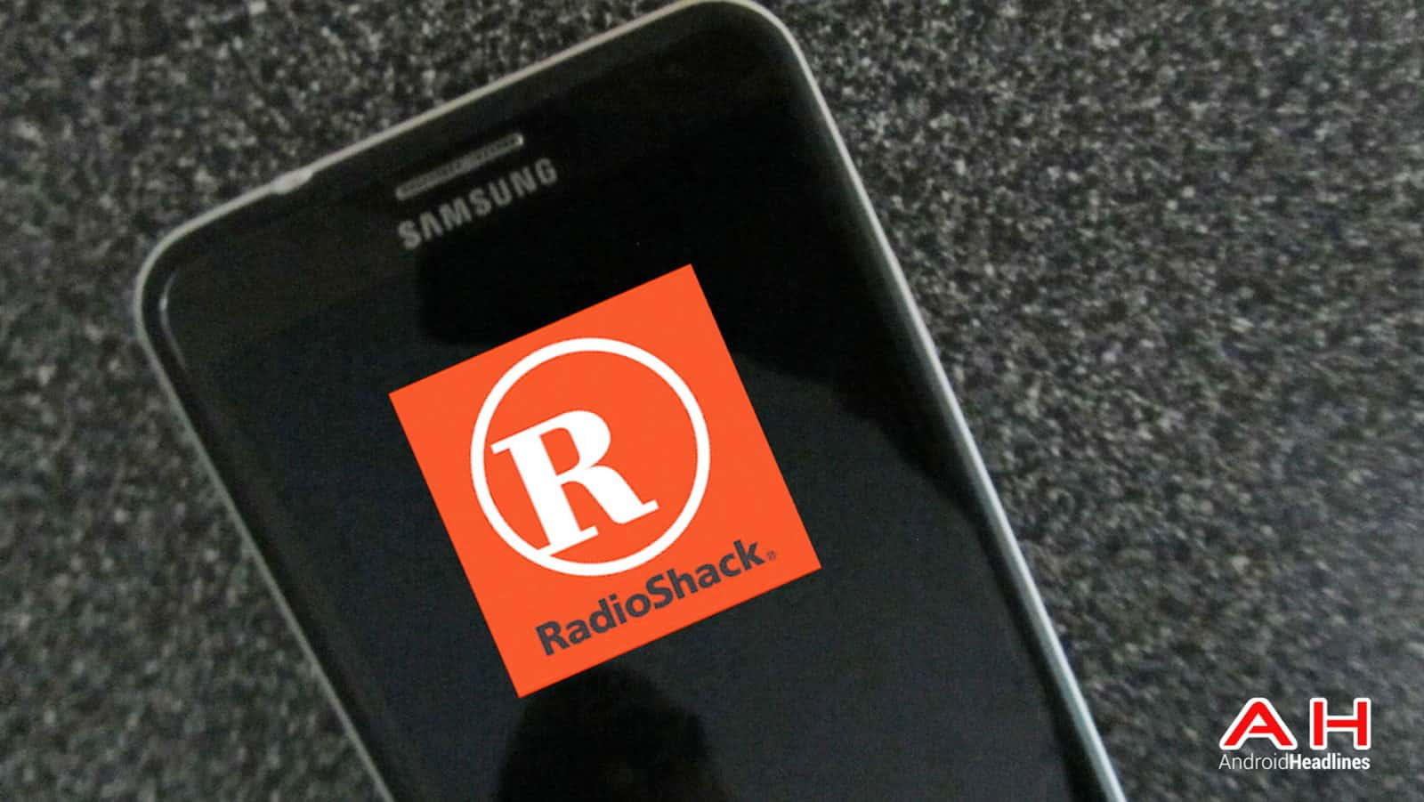 RadioShack Emblem on Screen AH