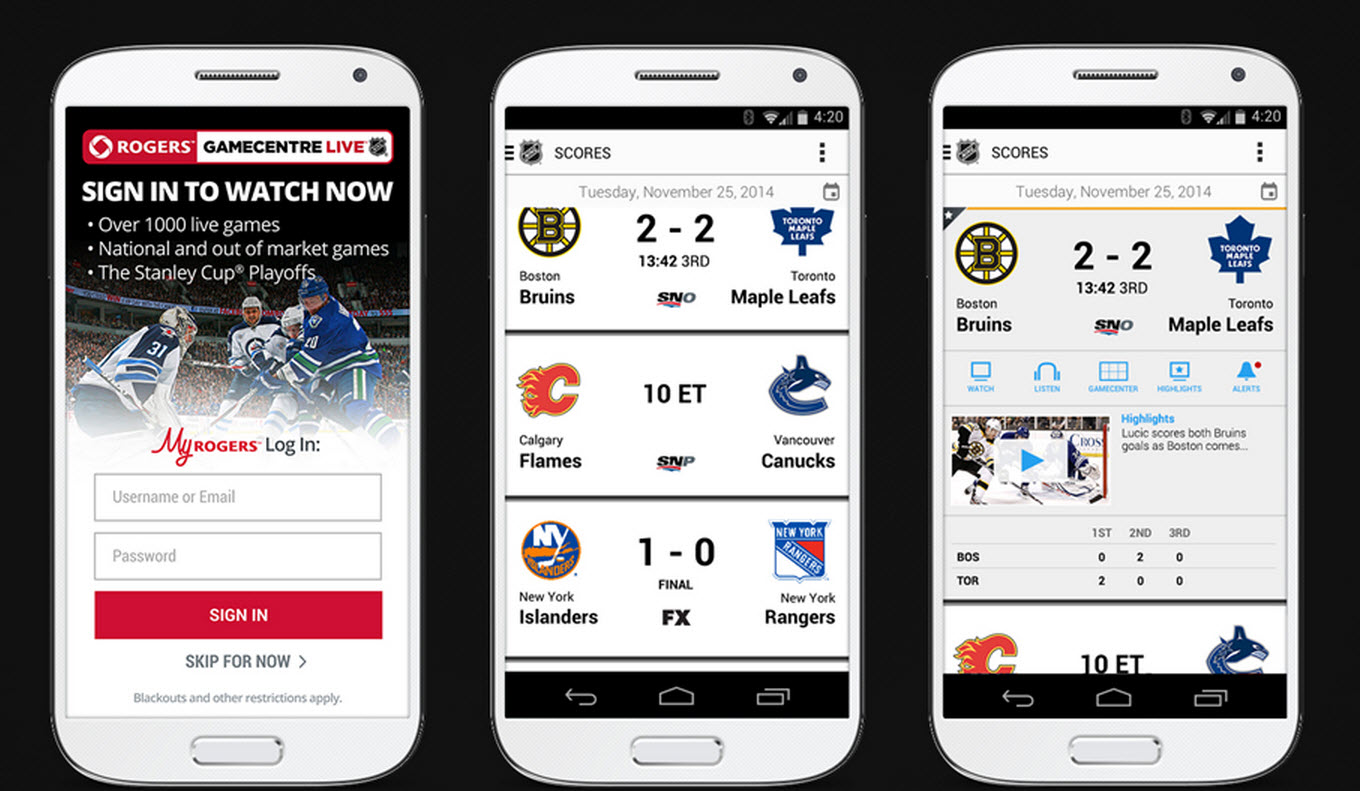 Rogers NHL GameCentre LIVE