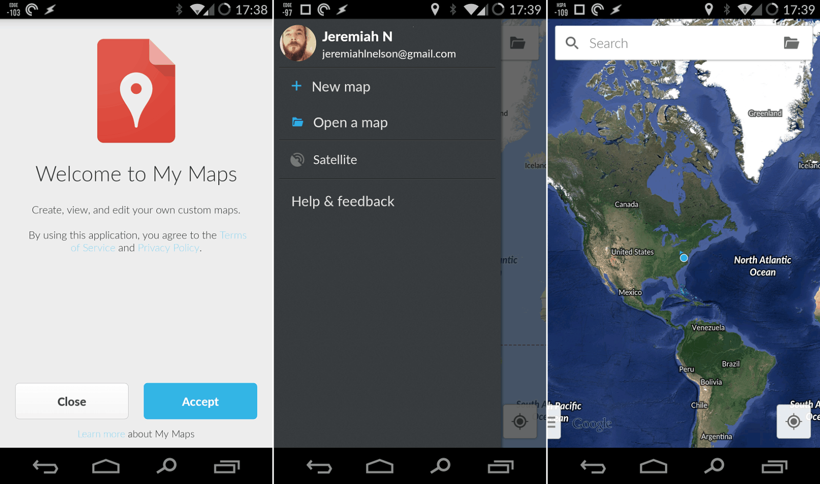 google replaces maps engine lite with new my maps android news. Black Bedroom Furniture Sets. Home Design Ideas
