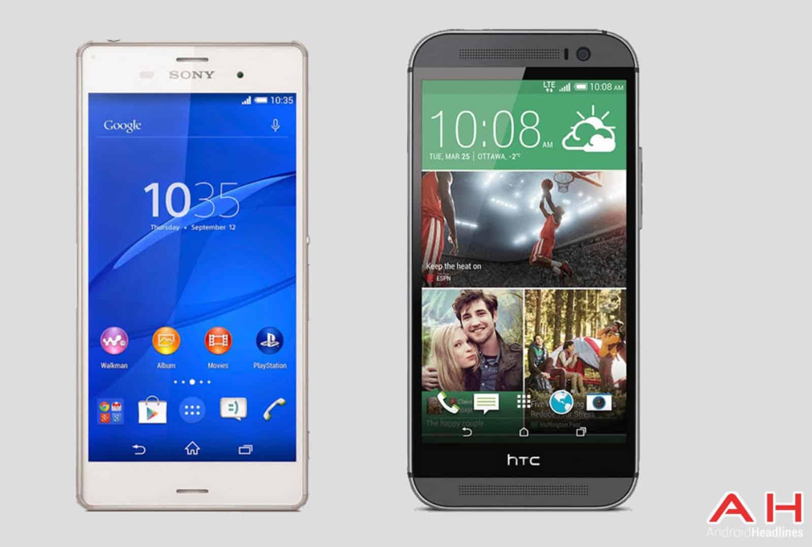 Xperia Z3 vs HTC One M8 AH