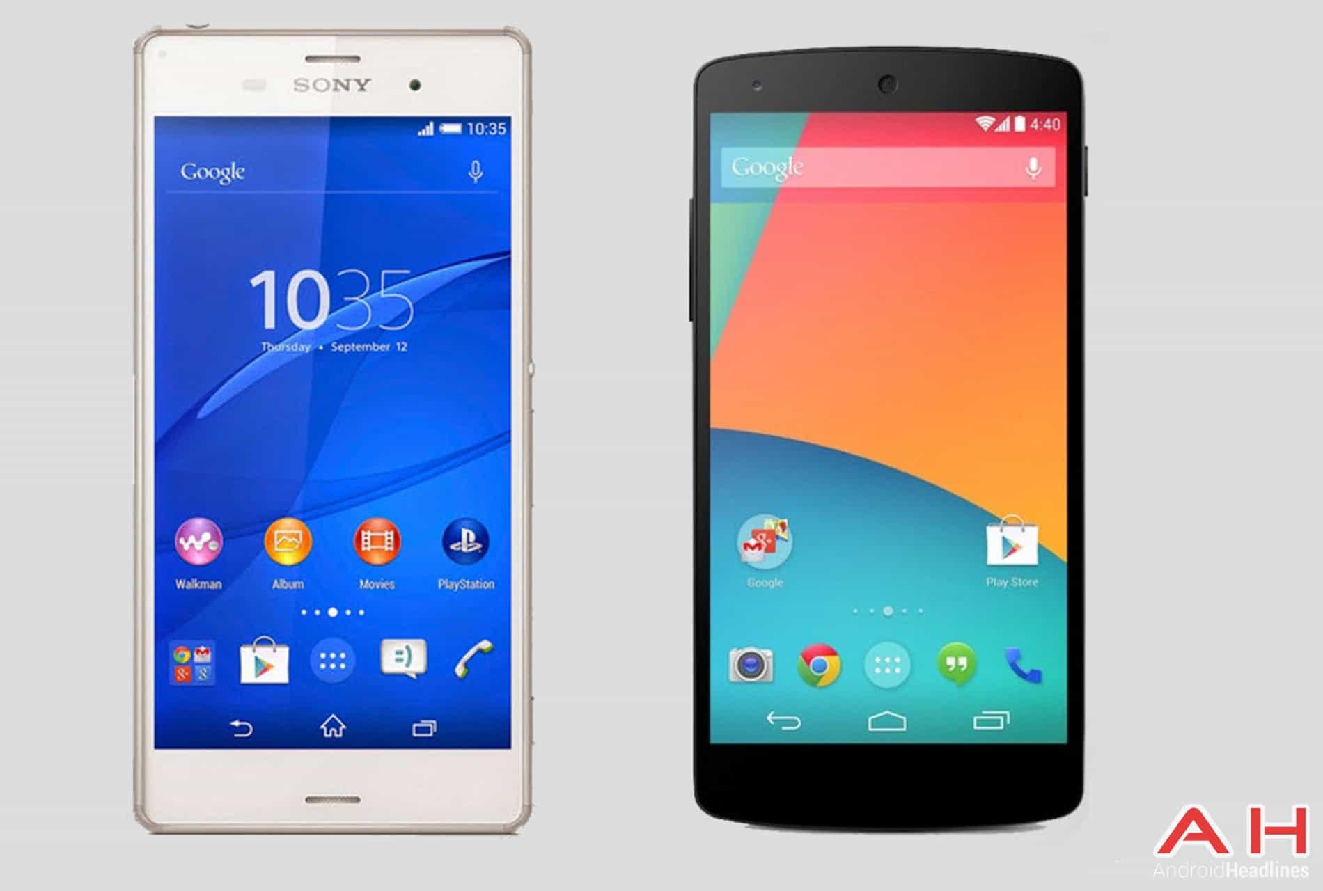 Xperia Z3 vs Nexus 5 AH