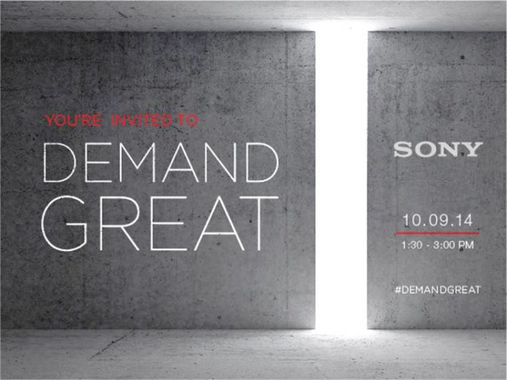 Sony Holding an Event in NYC on October 9th to #DemandGreat