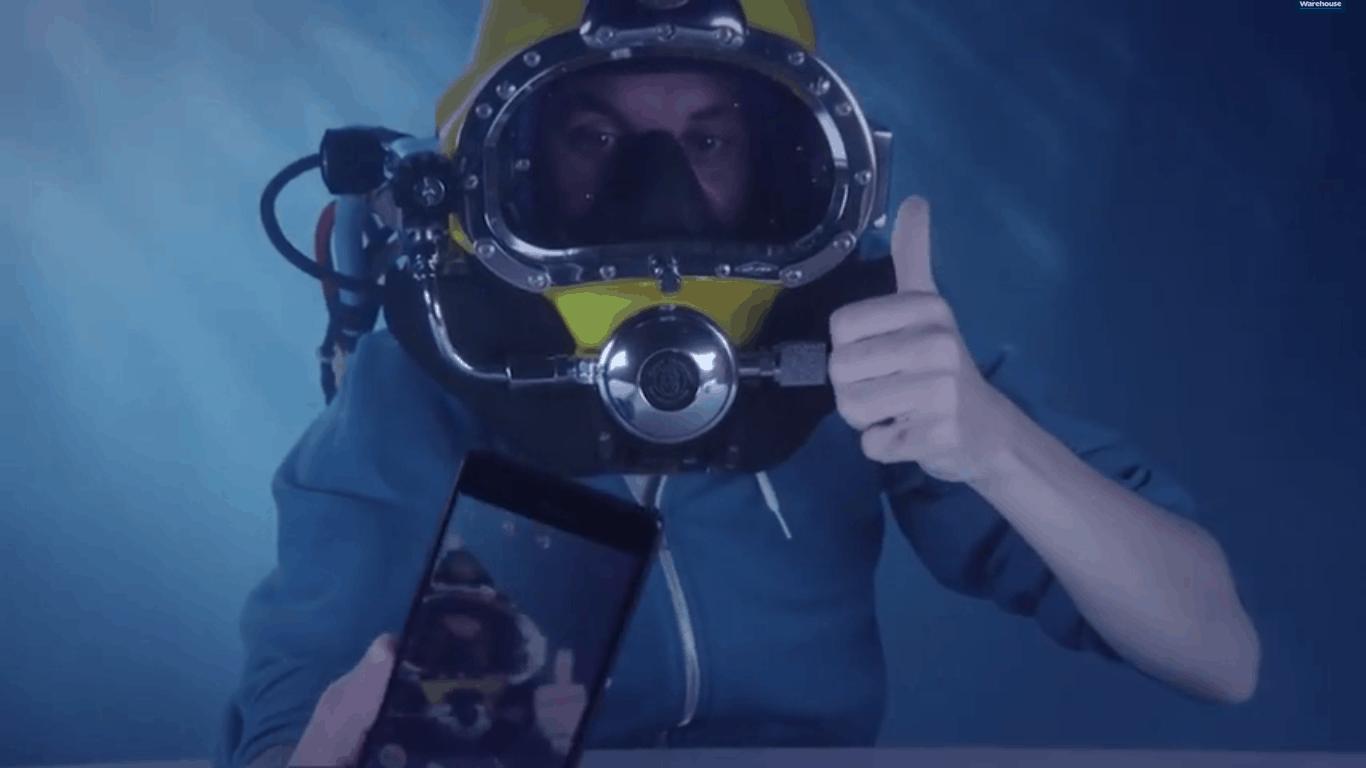 z3 underwater unboxing