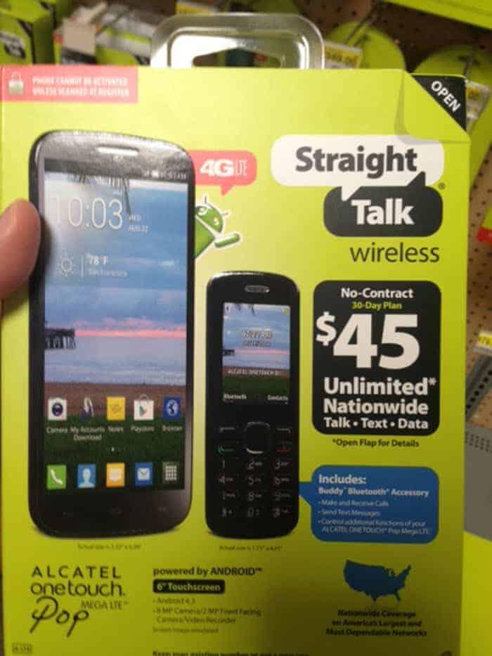 Alcatel OneTouch POP Mega LTE 2