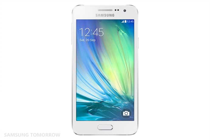 Galaxy A3 Front Pearl White