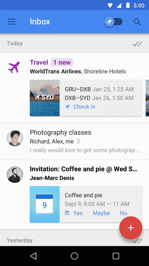 Inbox app_highlights feature