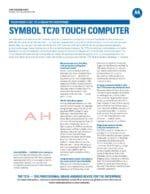 Motorola TC70 Spec Sheet 2