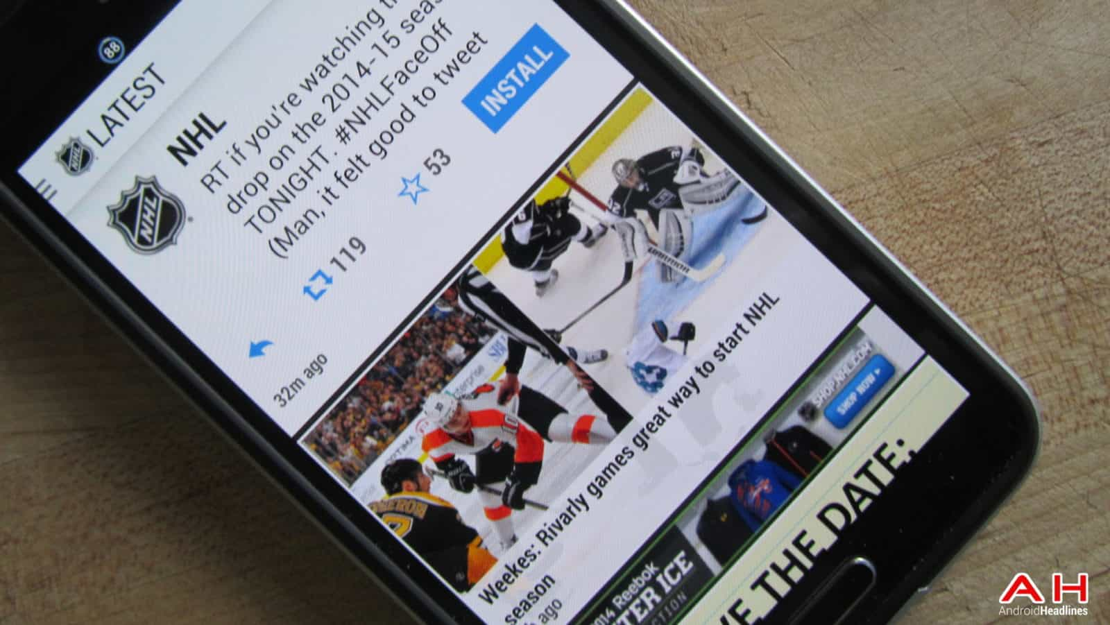 NHL Official App AH