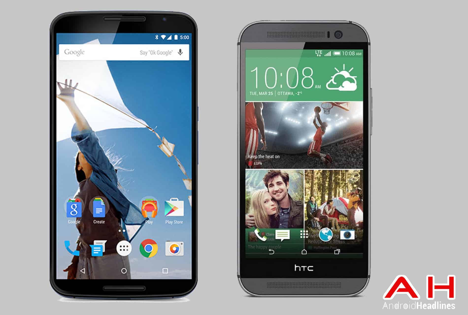 Phone Comparisons: Nexus 6 vs HTC One M8