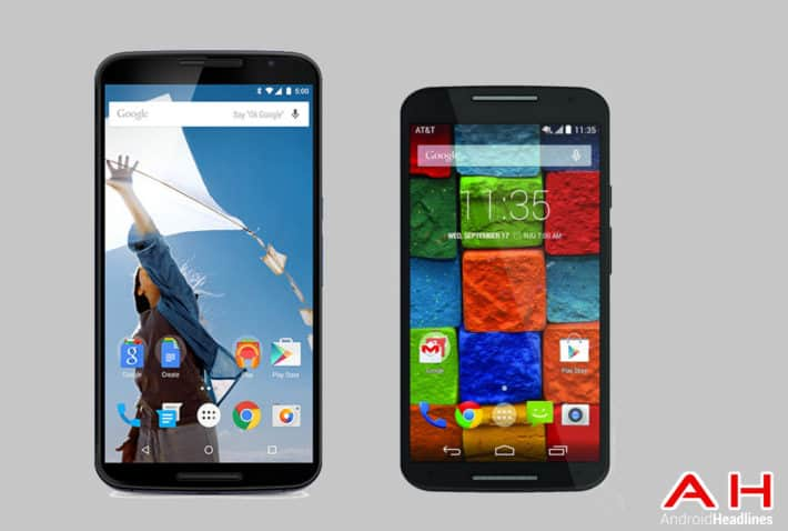 Phone Comparisons: Nexus 6 vs Motorola Moto X (2014)