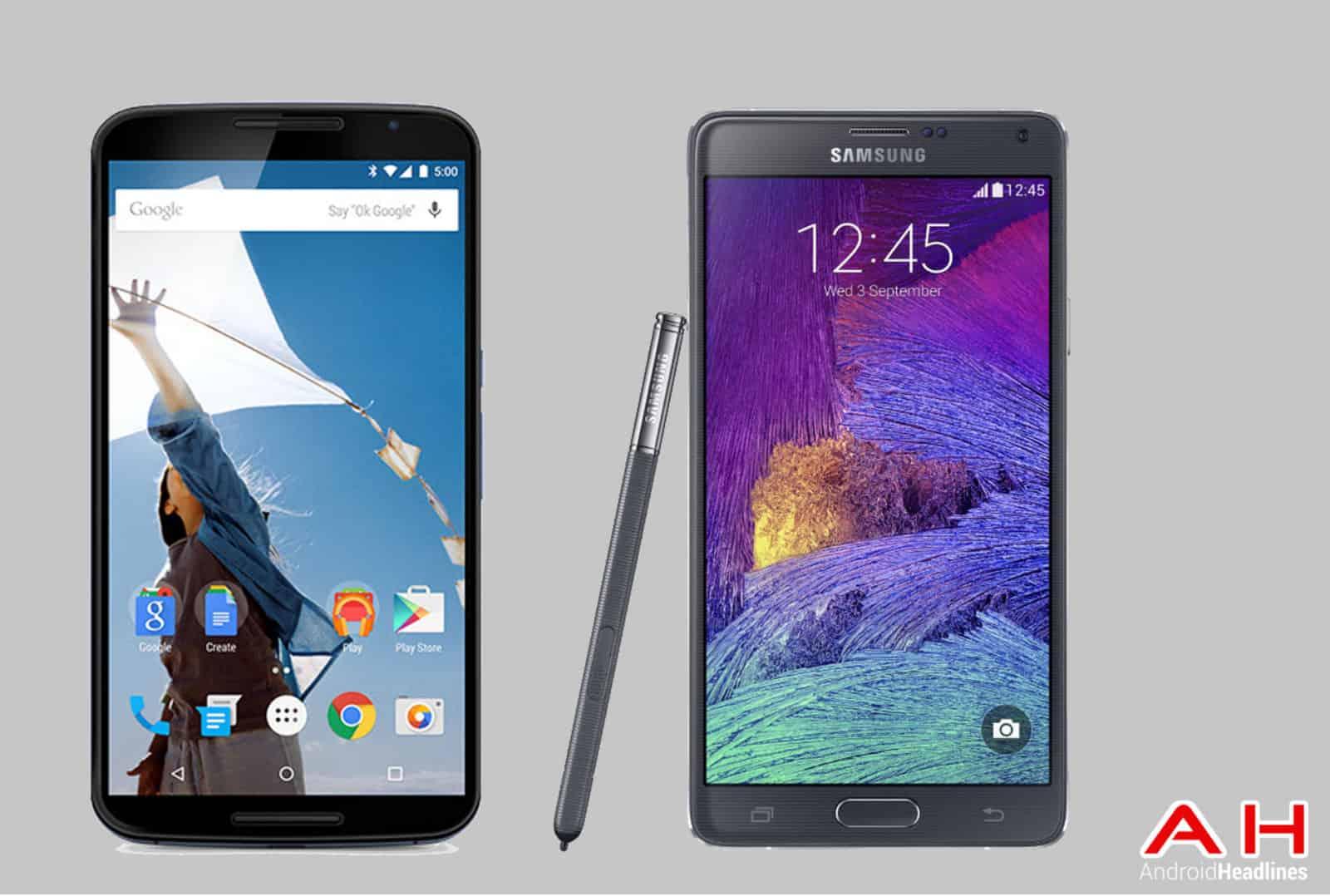 Nexus 6 vs Note 4 ah