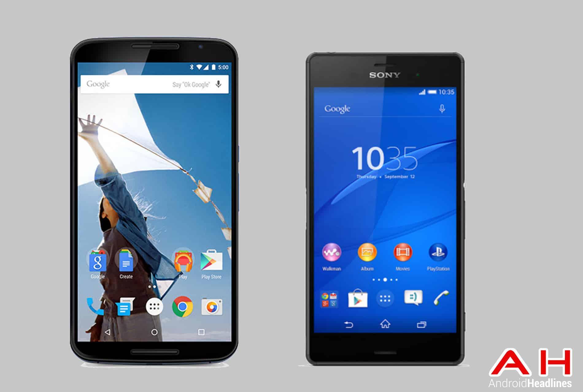 Nexus 6 vs Xperia Z3 AH