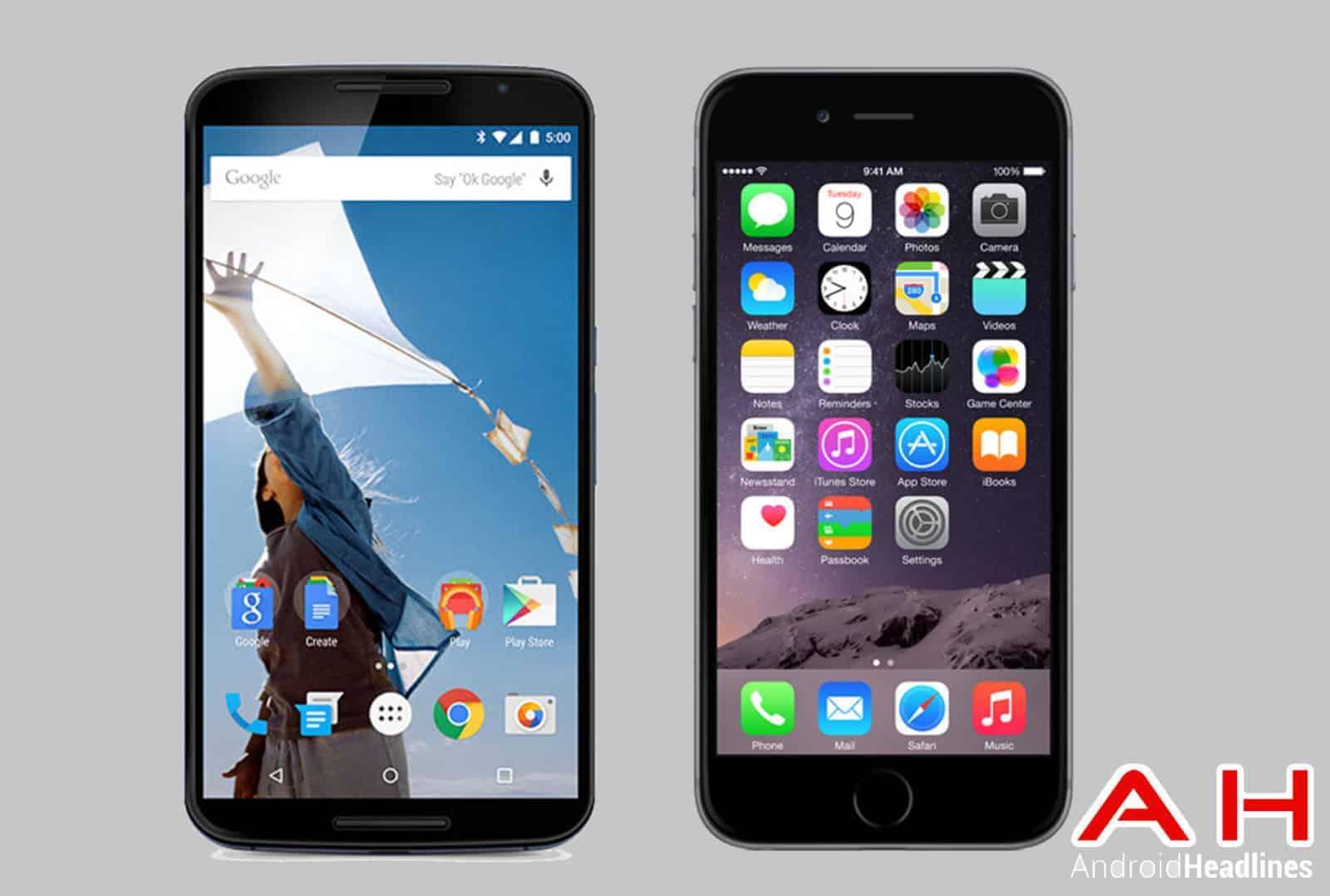 Nexus 6 vs iPhone 6 Plus CAM ah