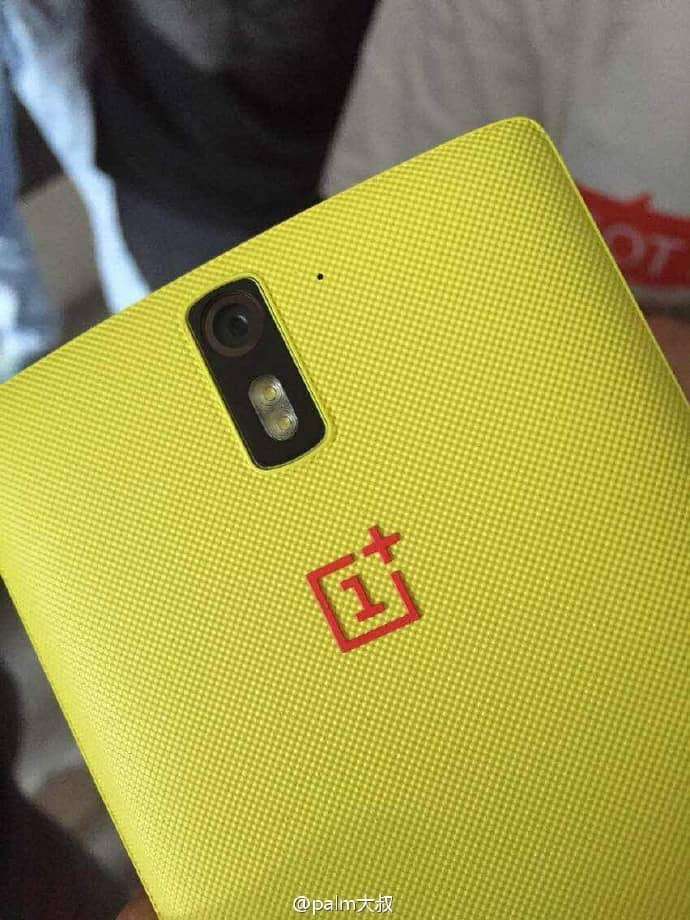 OnePlus One yellow back cover leak_1