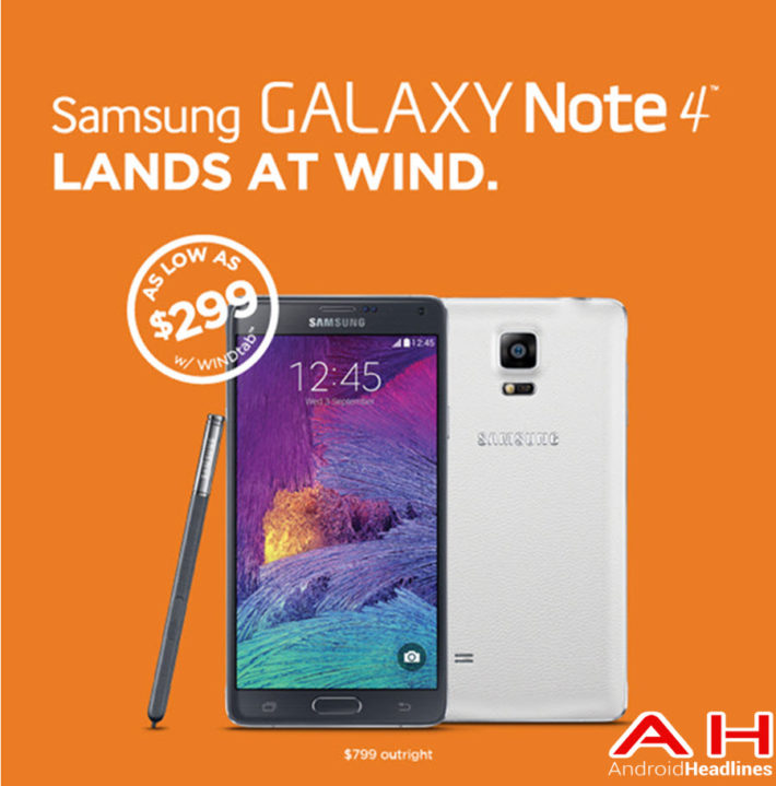 Samsung Galaxy Note 4 Going to WIND Mobile on October 24