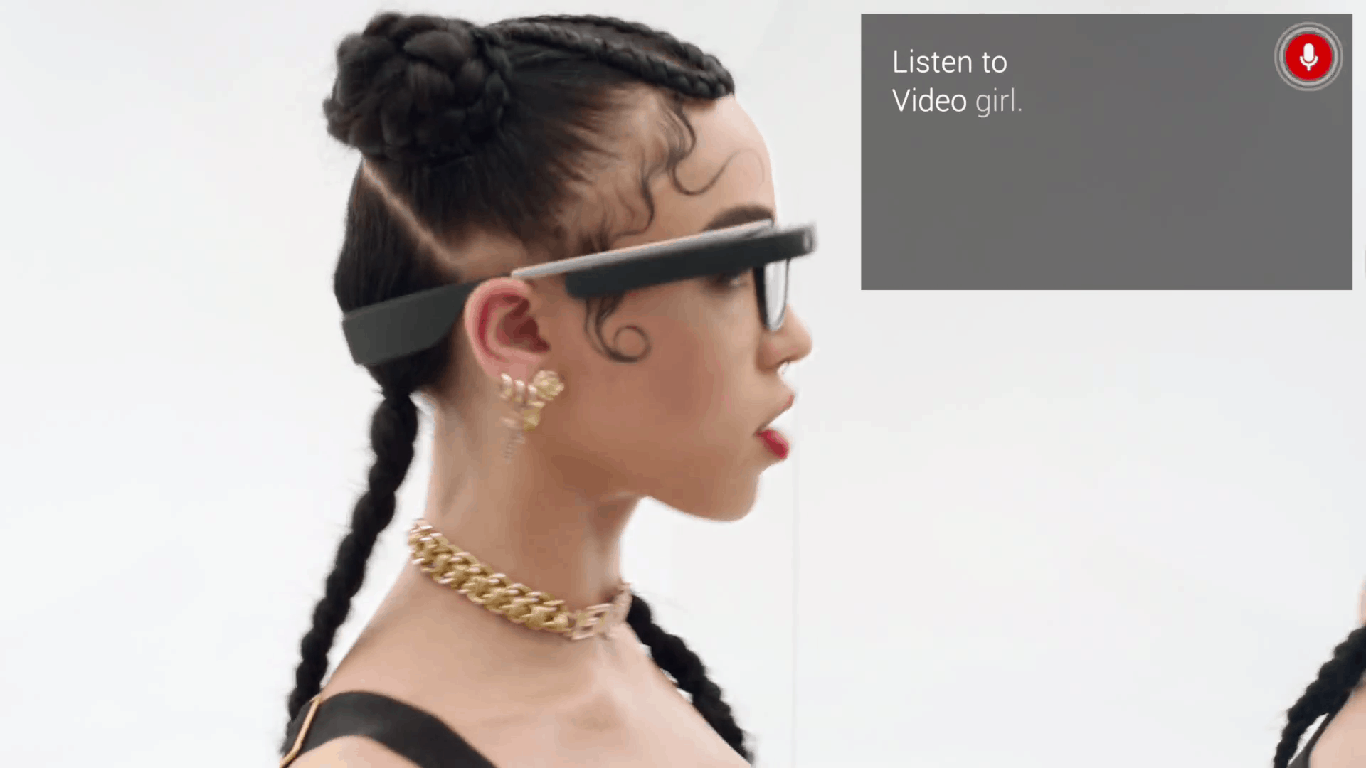 Google Glass Video Girl