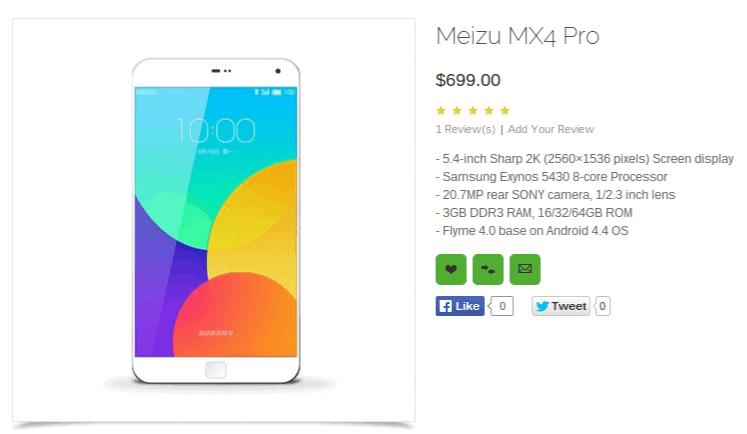 Meizu MX4 Pro OppoMart leaked render_1