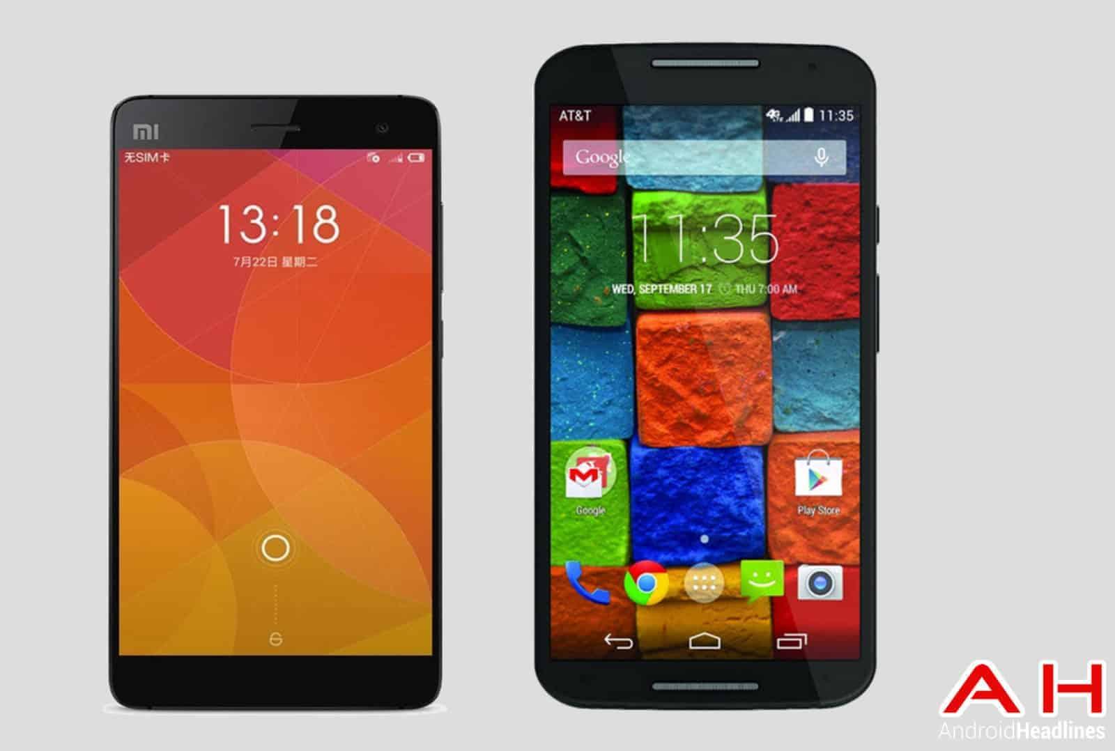 Xiaomi Mi4 vs Moto X (2014) PW AH