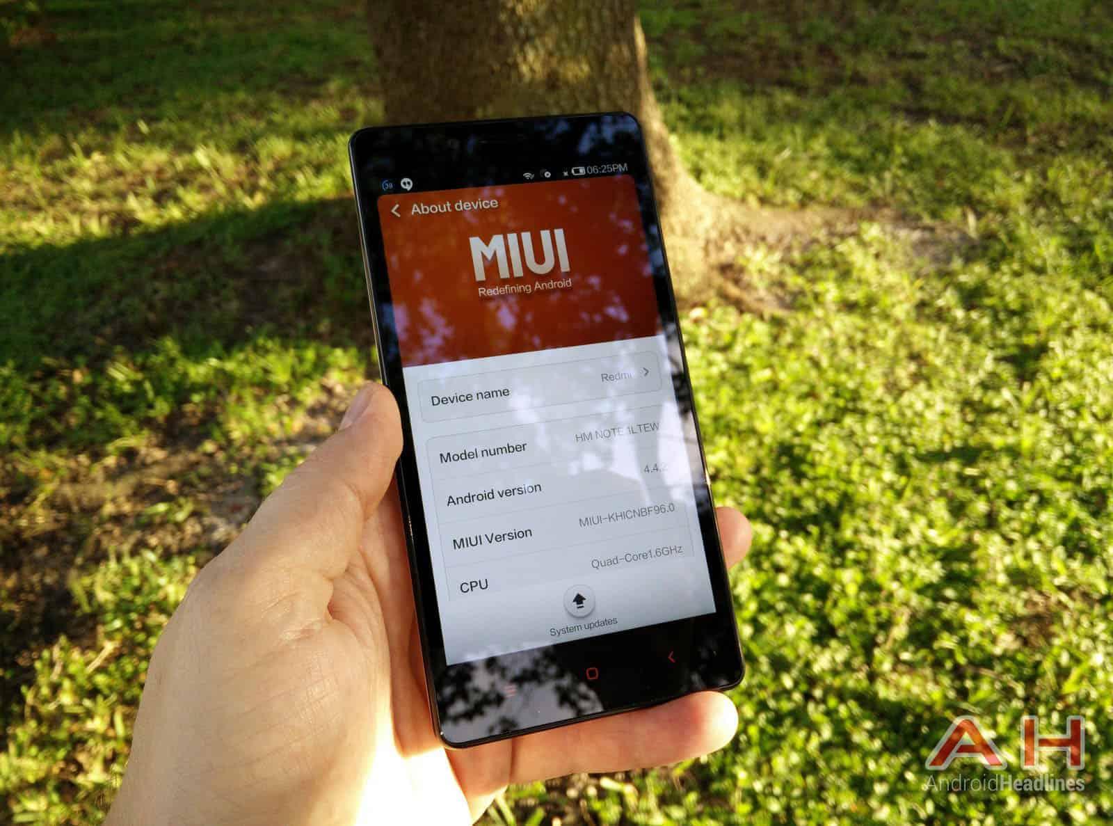 Xiaomi Redmi Note miui 10