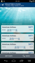 android app flights