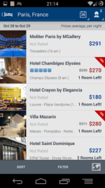 android app hotels