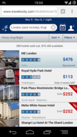 android browser hotels
