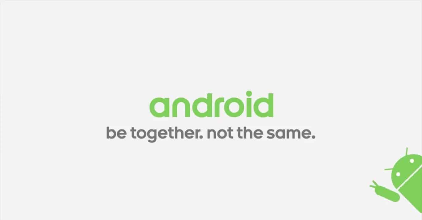 android_beTogether_notTheSame