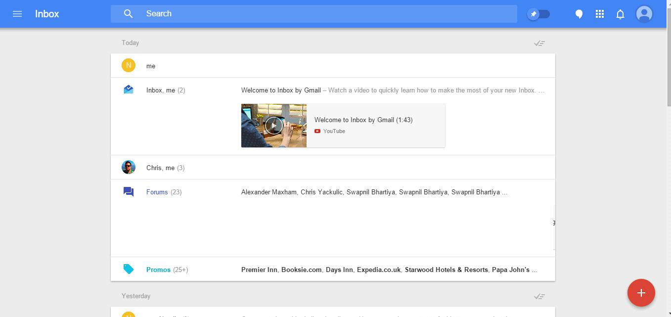 imbox opening page