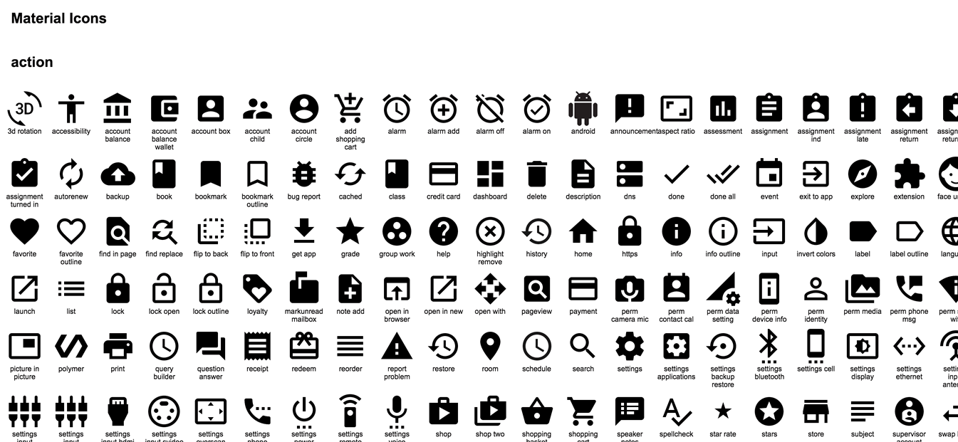 google releases 750 material design based icons as open source and
