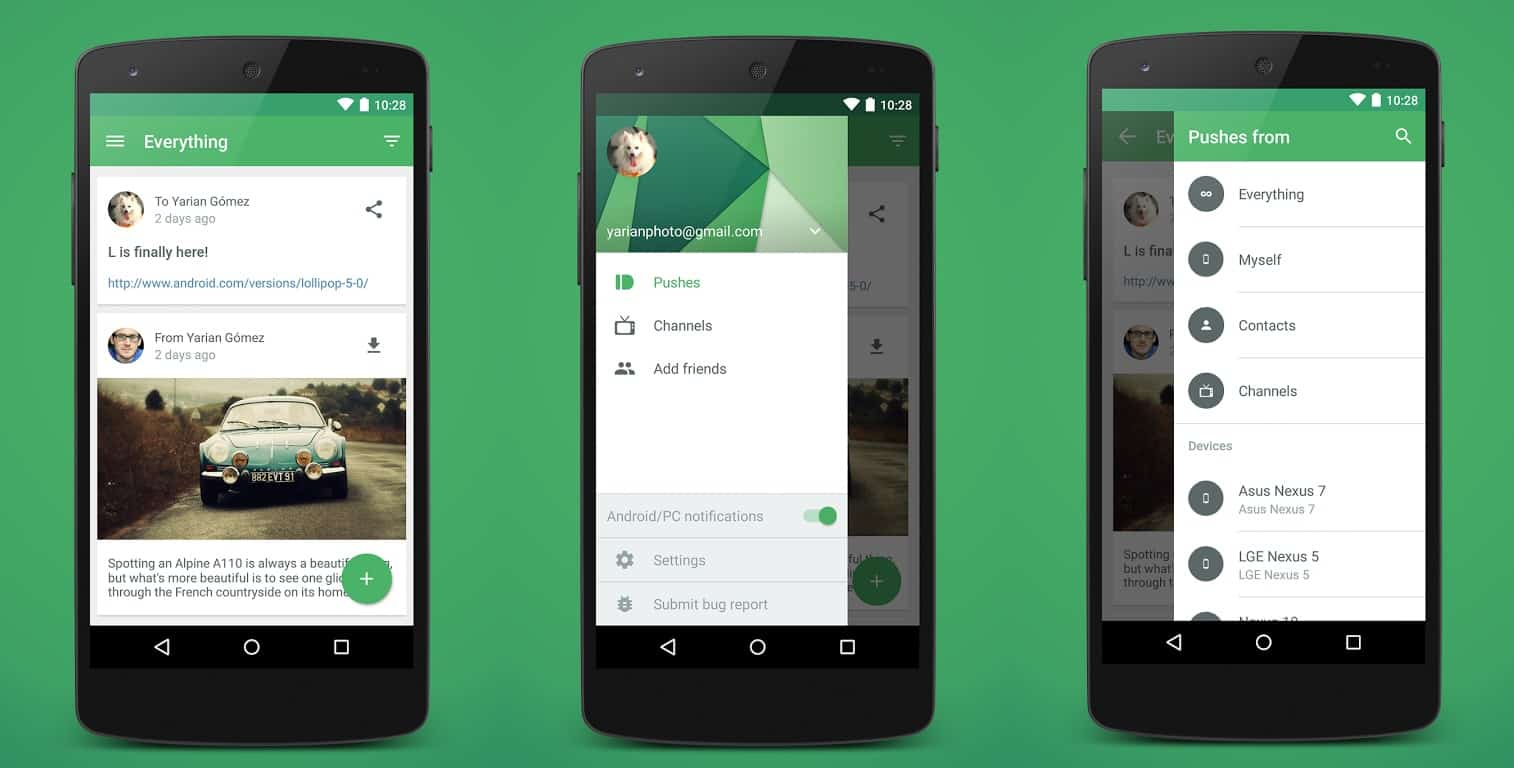 Pushbullet Gets Big Material Design Update Adds Device Filtering