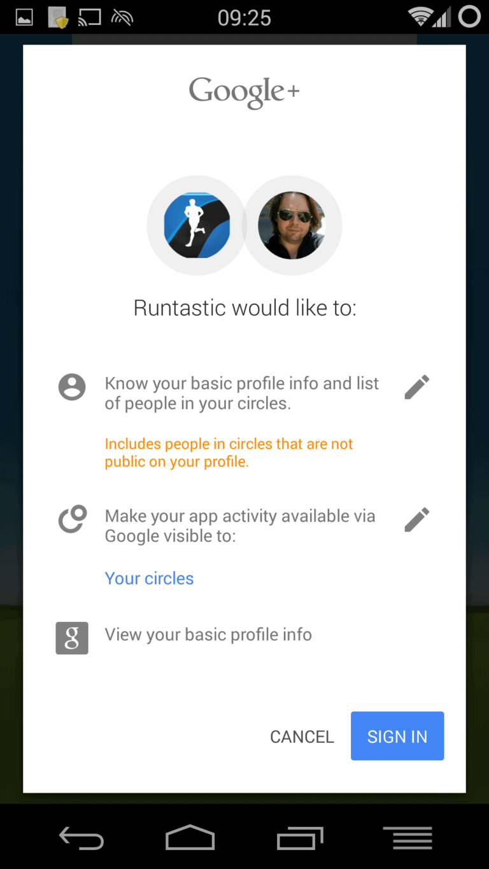 runtastic google fit screenshot3