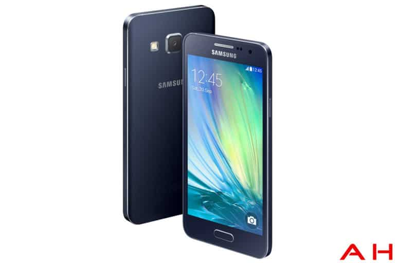 samsung galaxy A3 front and back