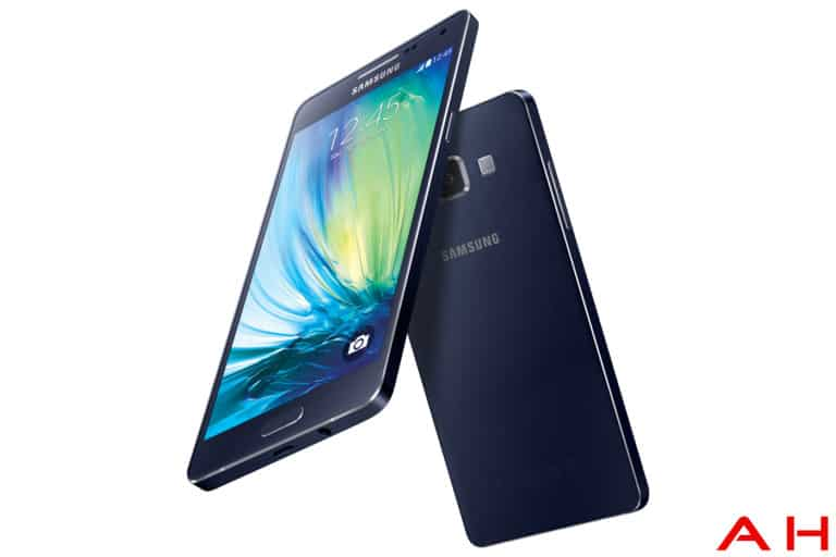 samsung galaxy A5 front and back angled