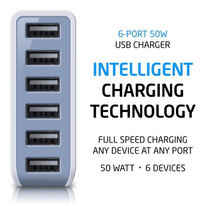 Deal: Photive 50 Watt 6 Port USB Desktop Rapid Charger – $26.95