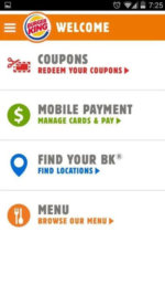Burger King App 1