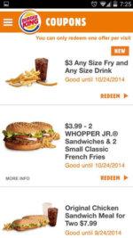 Burger King App 2