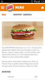 Burger King App 5