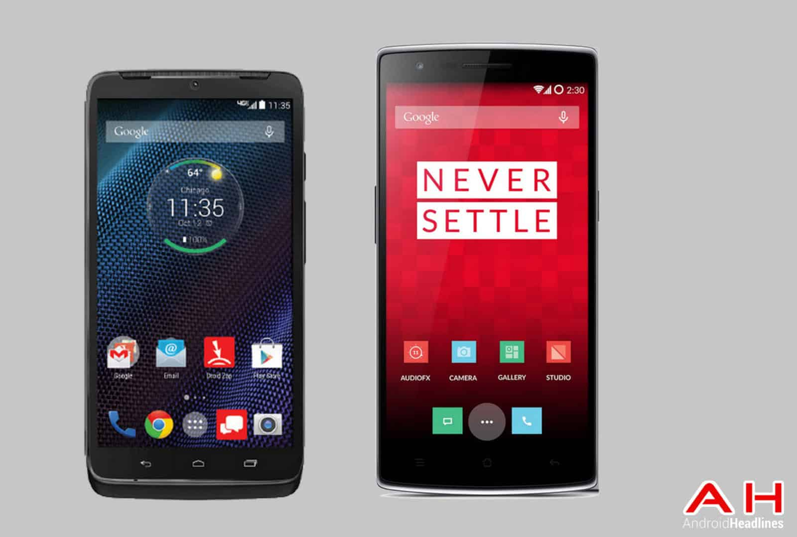 motorola droid phones. phone comparisons: motorola droid turbo vs oneplus one phones