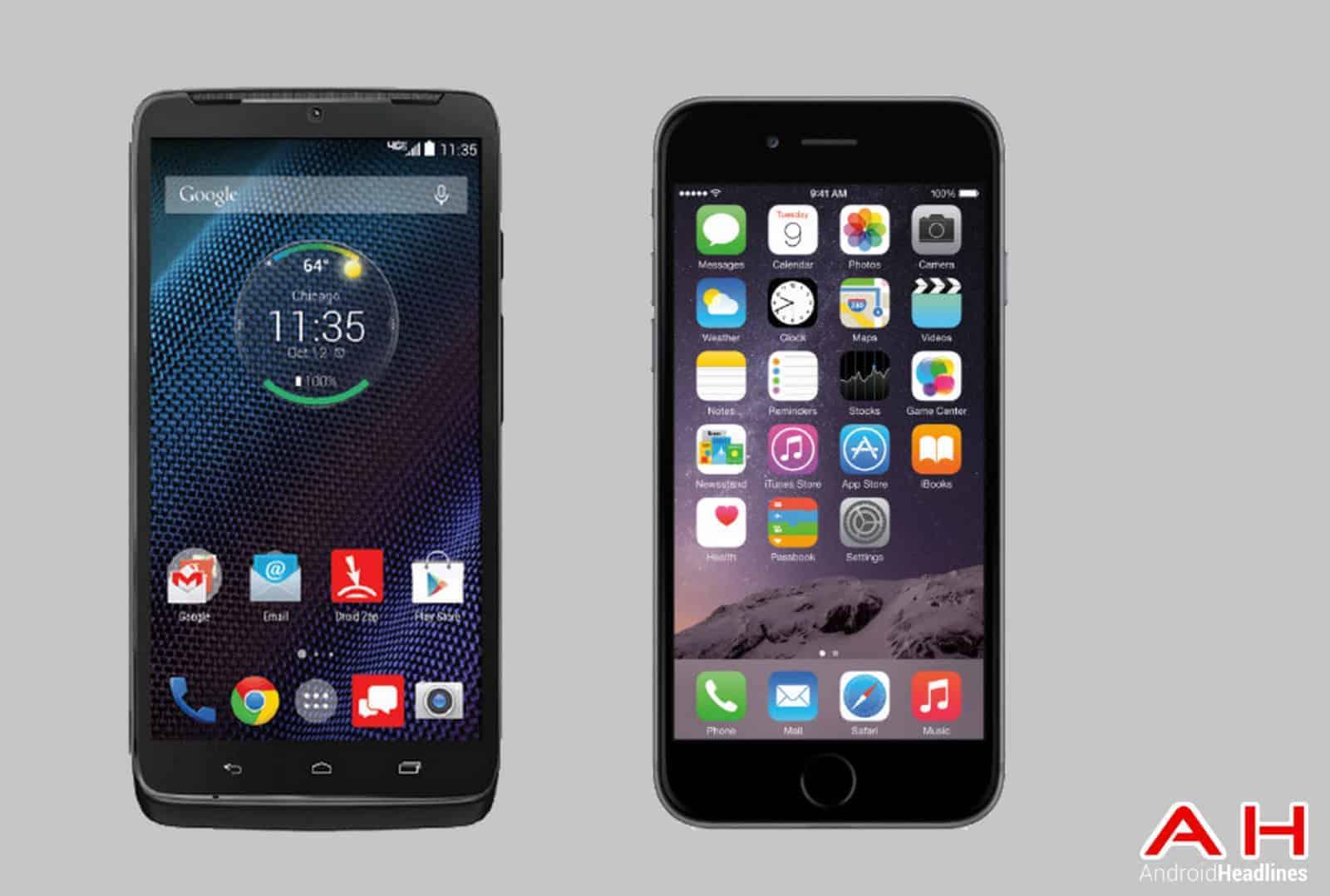 Droid Turbo vs iPhone 6 cam AH