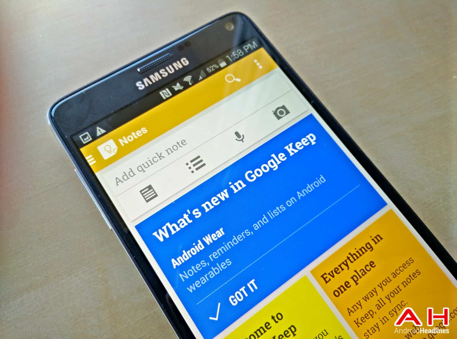 Google Keep AH-1