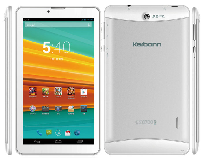 Karbonn ST72, A 3G 7-Inch Tablet, Is Now Available In India For RS 6,800 ($110)