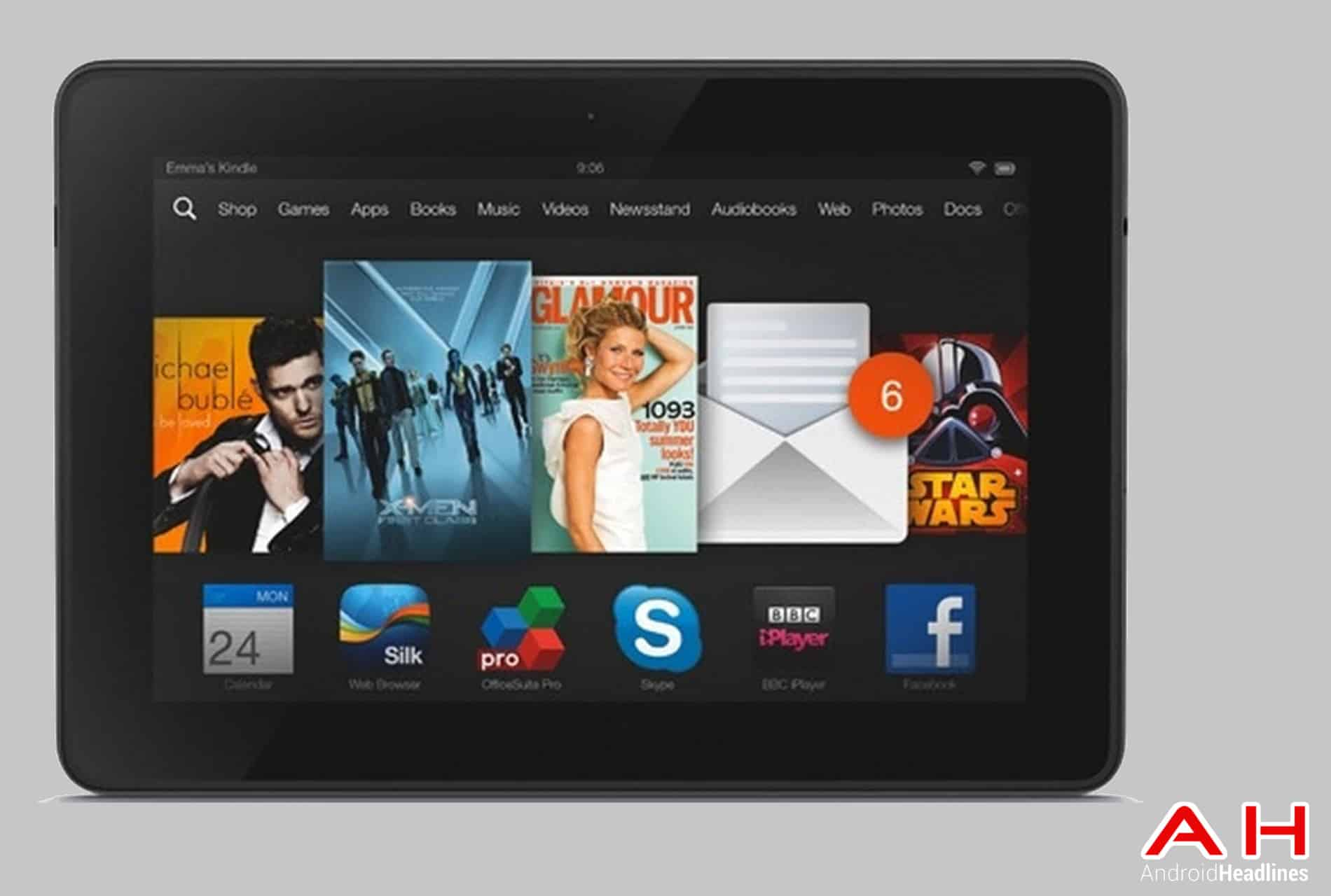 Kindle Fire HDX 8.9 cam AH