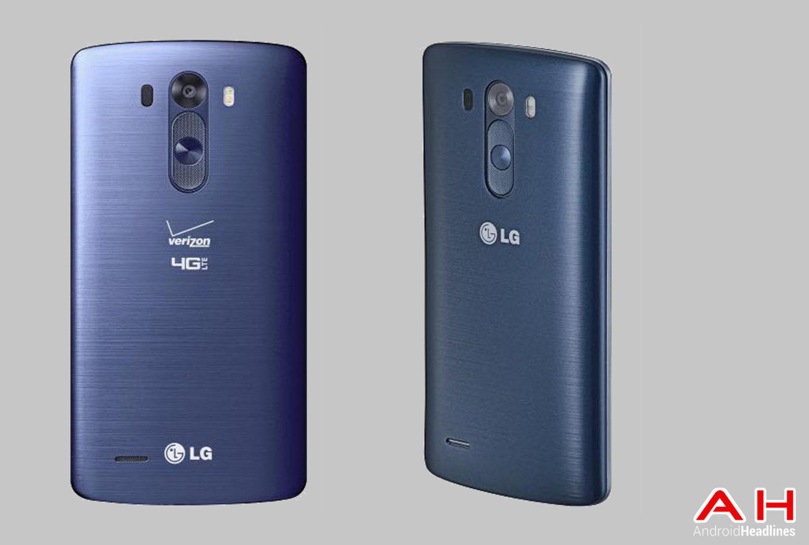 LG G3 Blue BackAngle View cam AH