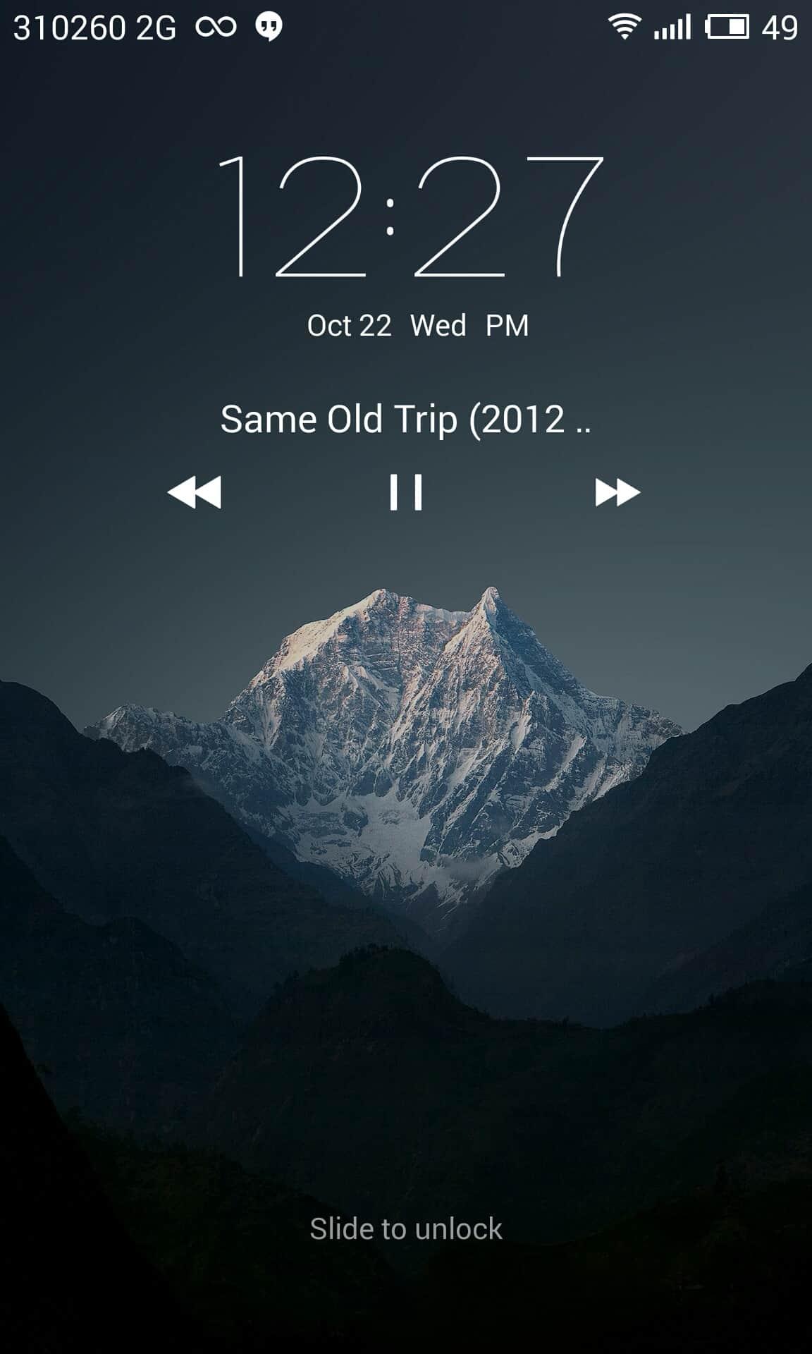Meizu mx4 lockscreen music