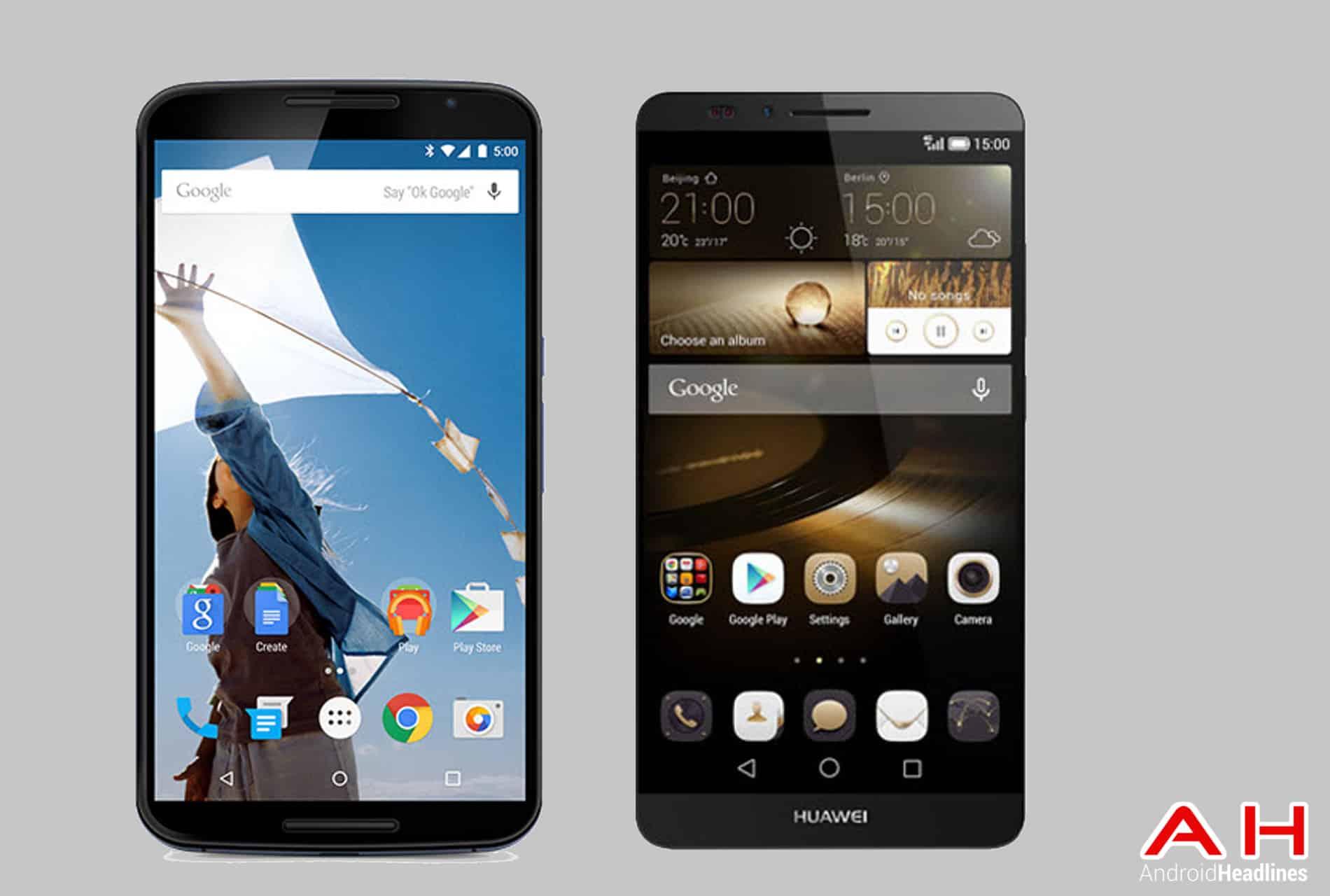 Nexus 6 vs Ascend Mate 7 cam AH