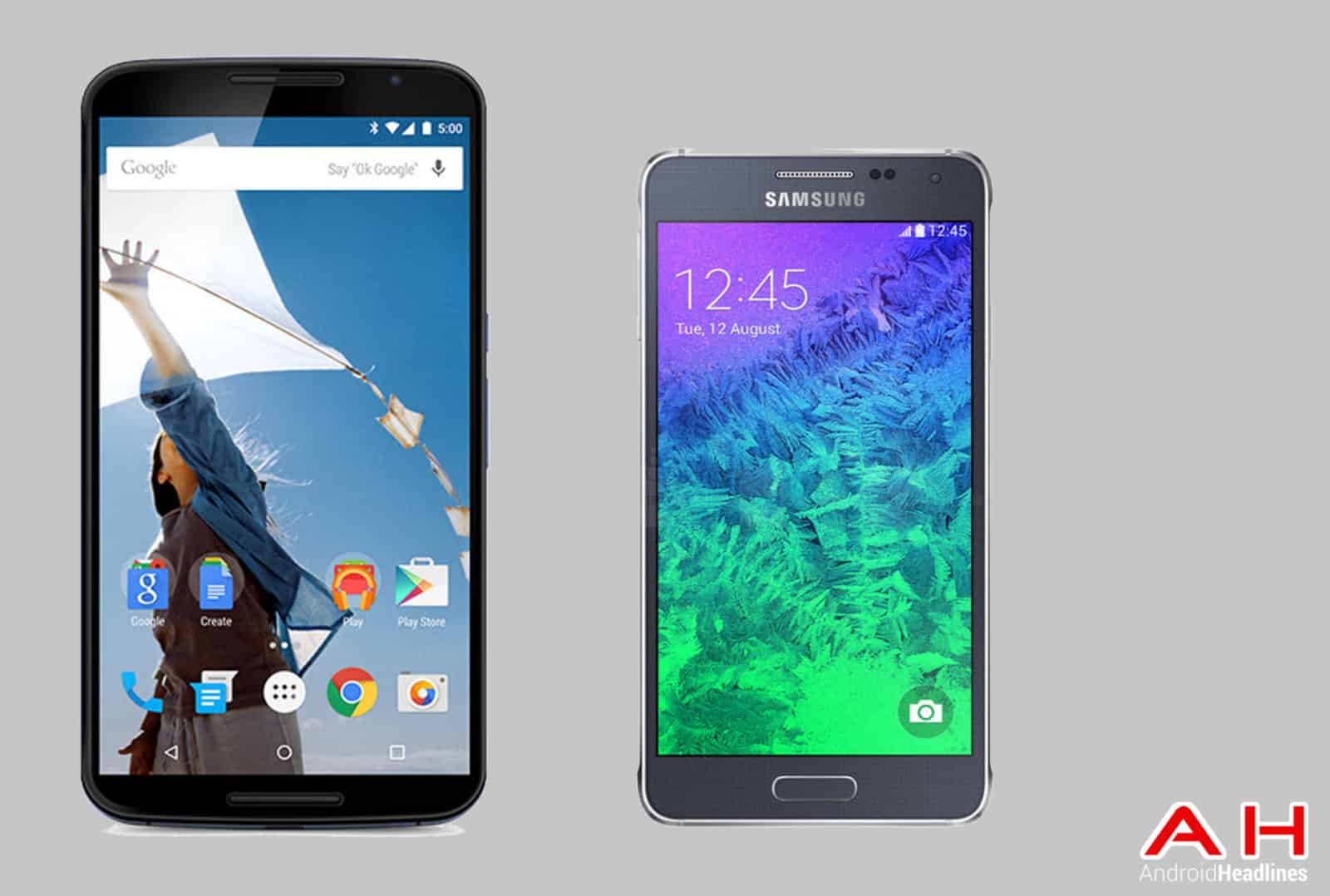 Nexus 6 vs Galaxy Alpha cam AH