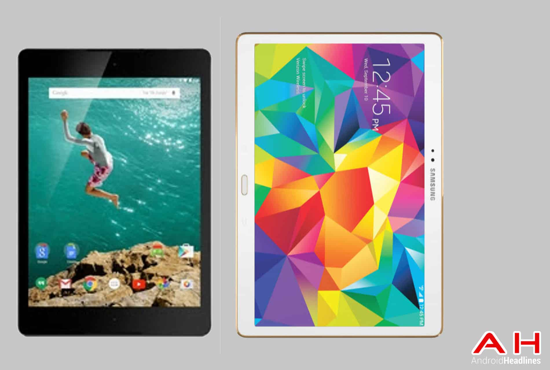 Nexus 9 vs Galaxy Tab S 10.5 cam AH