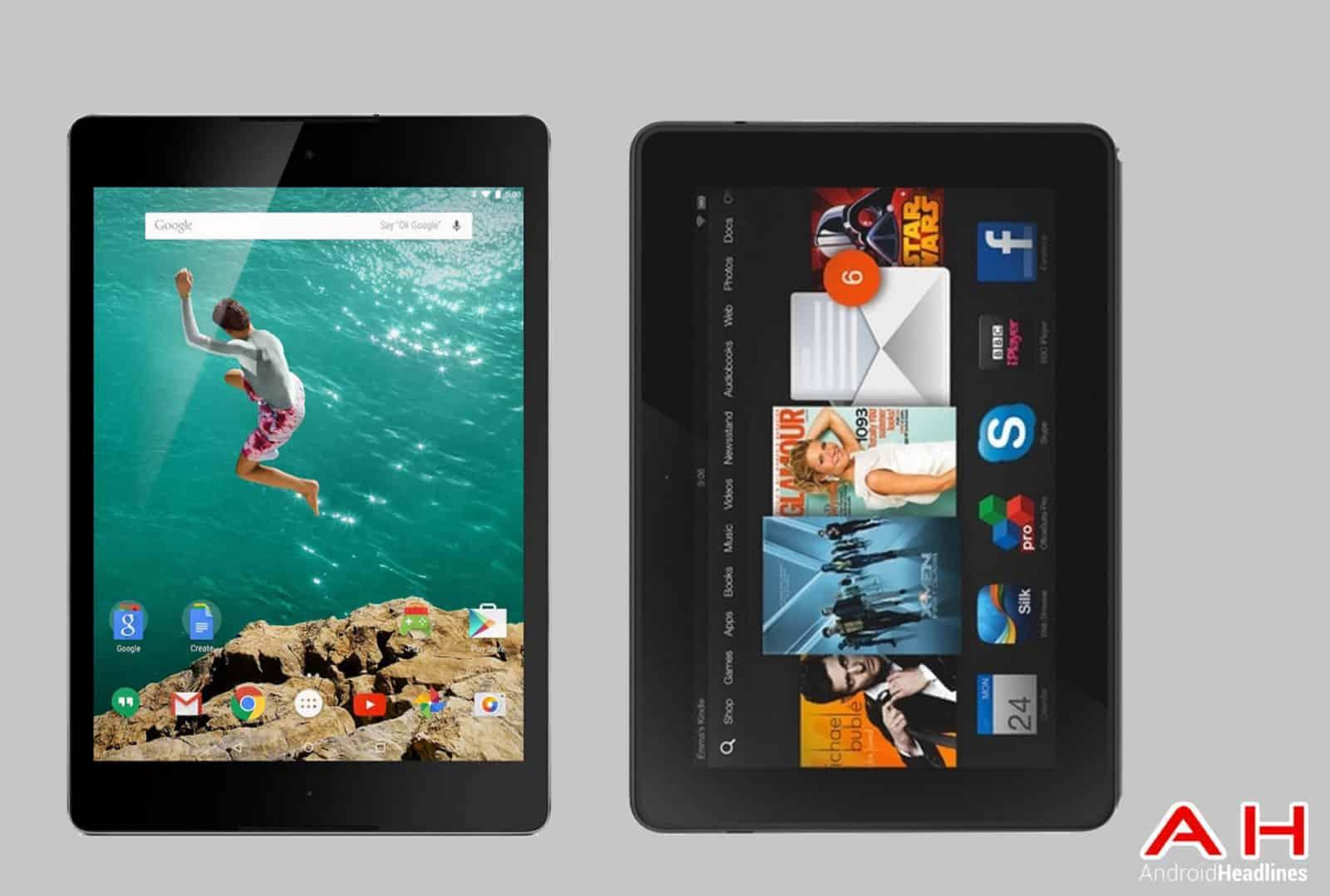 Nexus 9 vs Kindle Fire HDX 8.9 cam AH