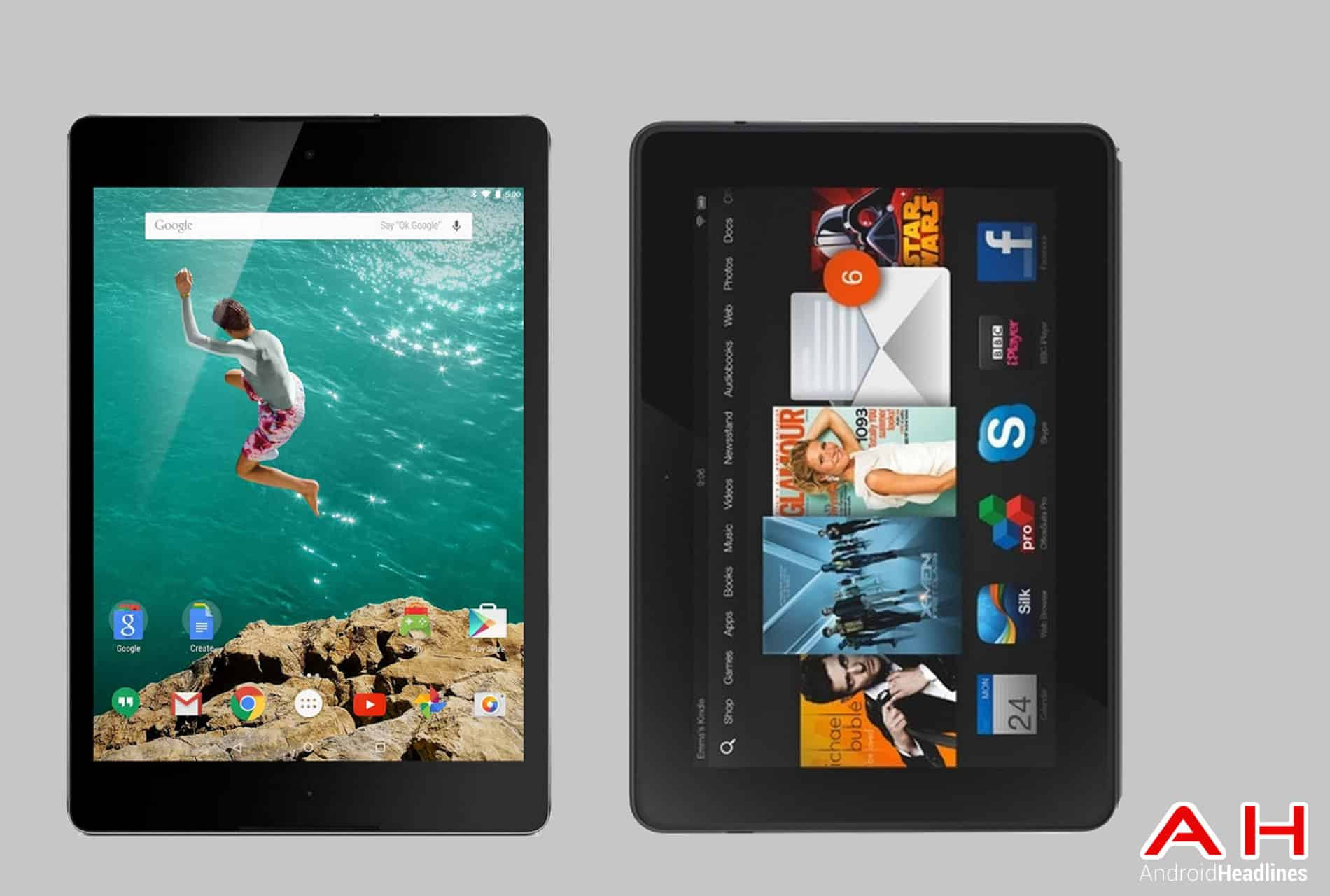 Nexus 9 vs Kindle Fire HDX 8.9 cam AH