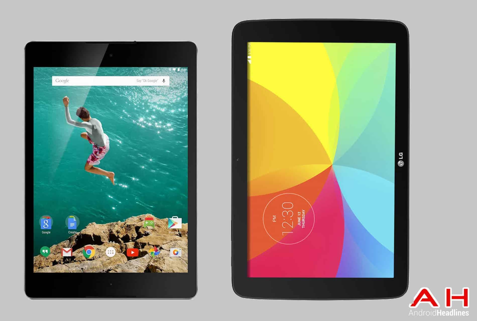 Nexus 9 vs LG G Pad 10.1 cam AH